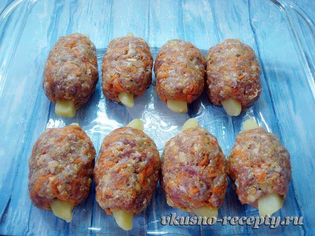 Мясные зразы с начинкой из картофеля