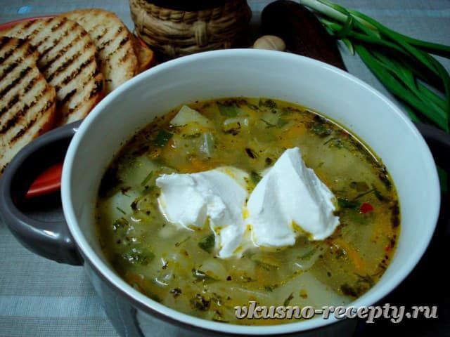 Постный суп с перловкой