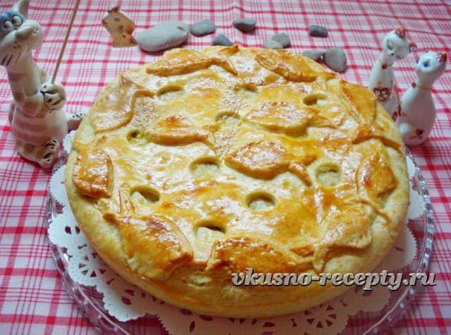 Пирог со скумбрией + обалденное тесто!
