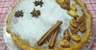 Американский тыквенный пирог на основе песочного теста